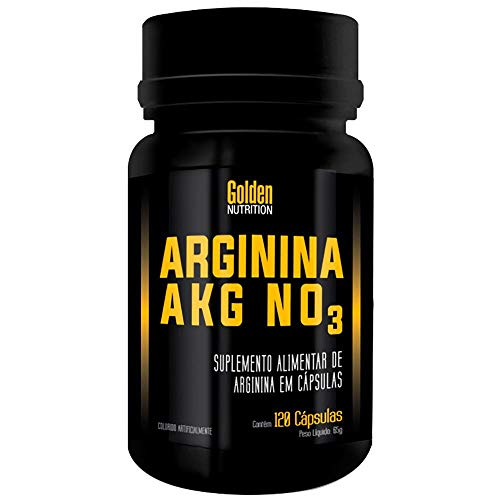 Arginina Akg NO3 120 Cápsulas Golden Nutrition Golden Nutrition