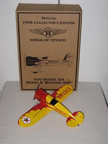 Texaco Special 1998 Collector's Edition Ertl Diecast 1930's Travel Air Model Mystery Ship NR1313 Wings Of Texaco Coin Bank by Texaco