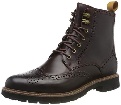Clarks Herren Batcombe Lord Biker Boots, Braun (Burgundy Wlined Burgundy Wlined), 41.5 EU