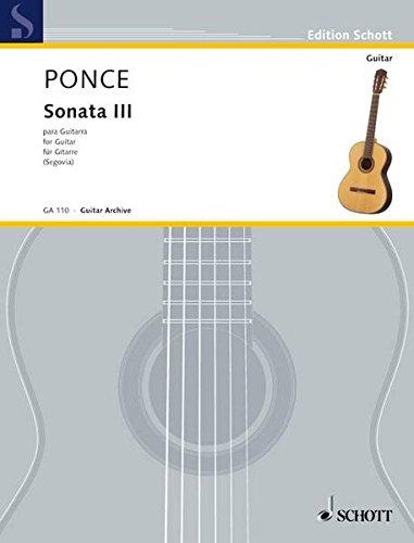 Sonata III: Gitarre. (Edition Schott)