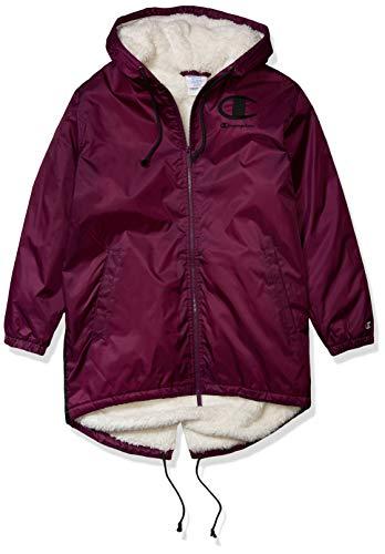Champion LIFE Men's Sherpa Lined Stadium Jacket, Venetian Purple/Black, Small
