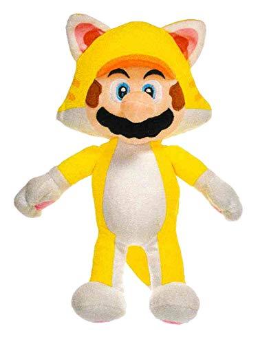 Mario Super Peluches 12'60'/32cm Luigi Super Poderes - Calidad Super Soft Cat (Gato)