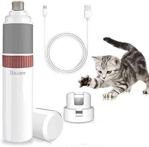 Krallenschleifer für Hunde und Katzen, 30 Dezibel super-leise Lärm Nagelschleifer, Schnelle Aufladung USB-Anschluß, Sicheres Glatt Trimmen, Elektrischer Nagelfeile zum Kleine/ Mittel/ Groß Hunde