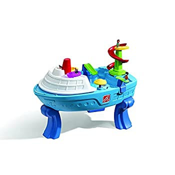 Step2 Fiesta Cruise Sand & Water Table with Umbrella | Kids Outdoor Play Table