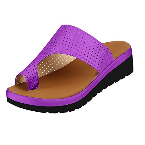 Sandalias Y Pantuflas De Verano De Talla Grande Para Mujer Y Zapatillas Con Puntera Gruesa Para Mujer