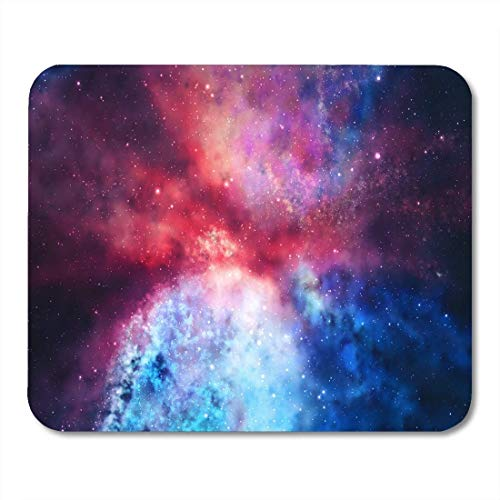 Yanteng Tappetini per Mouse Mouse Tappetini per Mouse Luminoso Rendering 3D Tappetino per Mouse colorato Galaxy in Space Beauty per Notebook, tappetini per Computer Desktop