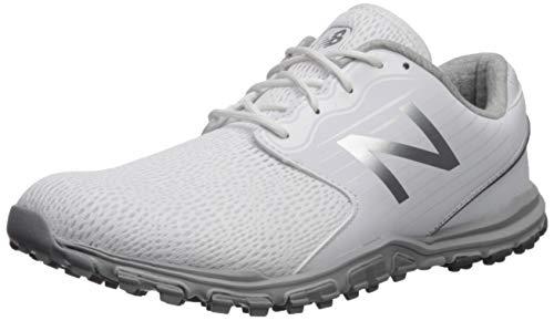 New Balance Women's Minimus SL Breathable Spikeless Comfort Golf Shoe, White, 6.5 Narrow
