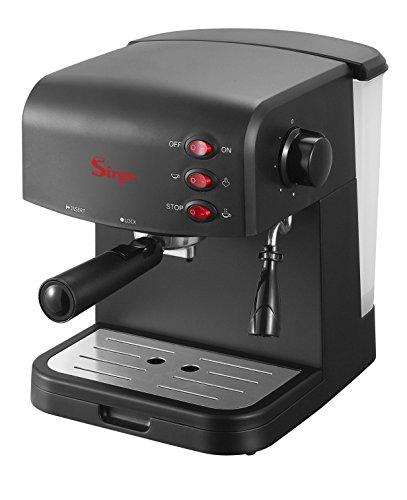 Sirge CREMAEXPRESSO Cafetera, Cafetera Espresso 15 Bares [Bomba italiana] Capacidad 1.2L, 850 W, Espumador de Leche para Cappuccino y Doble removible y Control Tactil, Negro