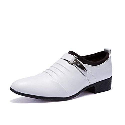 Slip-On Dress Chaussures Hommes Semi-Formelles Chaussures Blanc / Noir , white , 45