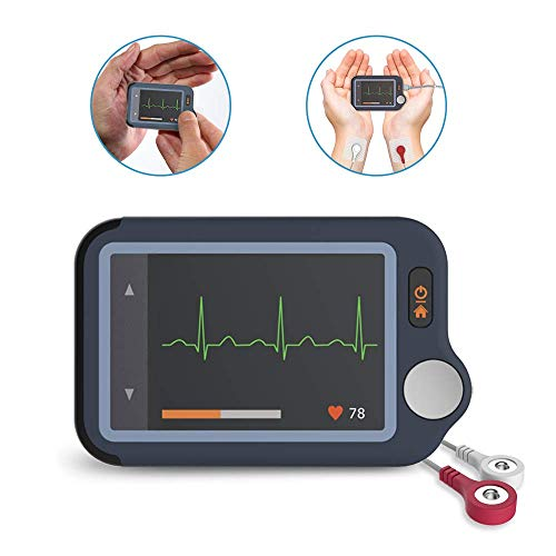 Heart Health Tracker w 30s/60s/5min ECG/EKG Trace Recording, Heart Rate Monitor Device Free APP & PC Software, Cable & Cable Free Operation, for Wellness Fitness Use