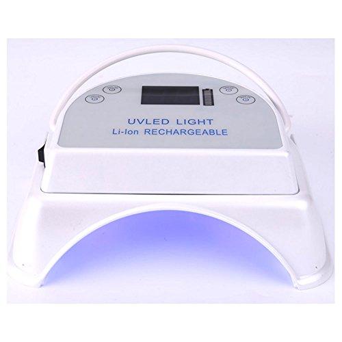 CHENG Nagel-Lampen-Lithium-Batterie Führte Backlampe 64W Phototherapy-Lampe Fingernagel-Trockner 64W Wieder Aufladbare Nagellampe,White