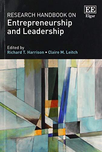 Research Handbook on Entrepreneurship and Leadership (Research Handbooks in...
