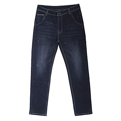 N\P Pantalones vaqueros de negocios delgados rectos de gran tamaño para hombre