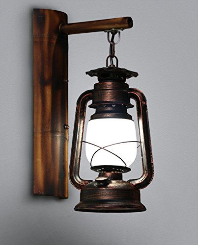 JJZHG Wandleuchte Wandlampe Wasserdicht Wandbeleuchtung Retro antike Bar Hängelampe Treppenhaus Gang Petroleum Wandleuchte,5W weißes Licht beinhaltet: Wandlampe,stoere wandlampen