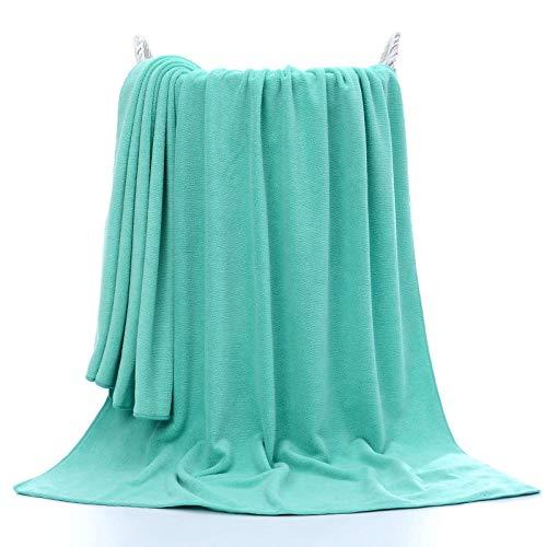 Lyolk Toallas de baño Grandes y Suaves, cómodas Toallas Grandes para Adultos-Verde Claro_70x140cm