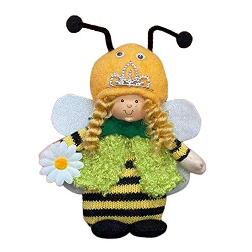 Bee Gnome Faceless Doll Ornaments,Plush Honeybee Toy Holiday Birthday Gift Bedroom Living Room Desktop Standing Post,Bee Festival Party Home Decoration (B1, 1PC)