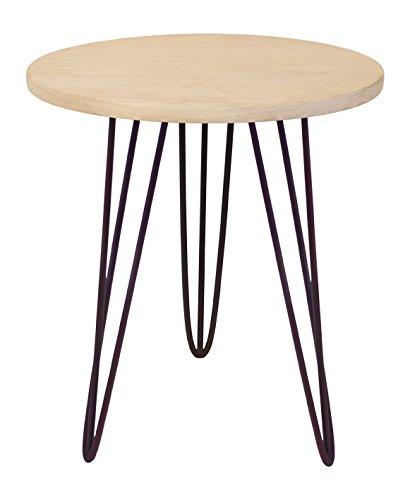 Tosel EVA, ronde tafel, staal, hout, bruin, 40 x 40 x 45 cm