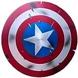 Capitan America Scudo Fatto Di Metallo 60Cm Edizione 75 ° Anniversario,Marvel Legends Avengers Scudo Alluminio Metal, Movie Edition Cosplay Adulti Costume Roleplay Puntelli Wall Decoration Scudo