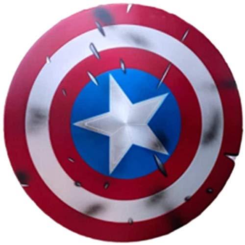ABDOMINAL WHEEL Vengadores Marvel Capitn Amrica Disfraz de Metal Shield Edicin 75 Aniversario 60Cm 1:1 Apoyos de Pelcula,Rplica de Marvel Prop Bar Creativo Escudo de Pared Retro