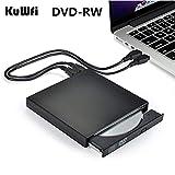 ラップトップの窓のMacbookのためのポータブルDVD ROM外付け光学式ドライブのUSB 2.0 CD/DVD-ROM CD-RWプレーヤーバーナースリムリーダーレコーダー (Color : Black)