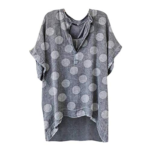 Affordable Toimothcn Plus Size Tunic Tops for Womens, Ladies Short Sleeve Sunflower Printed V-Neck T...