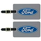 Ford Motor Company Blue Oval Logo Luggage ID Tags Carry-On Cards - Set of 2
