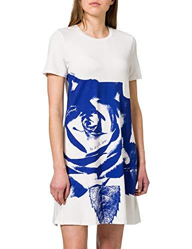 Desigual Vest_WASHINTONG Vestido Casual, Blanco, S para Mujer