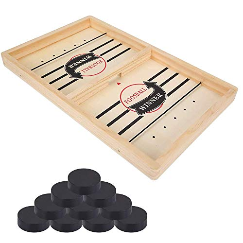 ZoneYan Katapult Brettspiel, Brettspiel Hockey, Bouncing Brettspiel, Spiel Stoßstange Schach, Game Table Brettspiel Fast Sling Puck, Tisch Hockey Brettspiel Katapult Schach für Kinder Familie (Small)