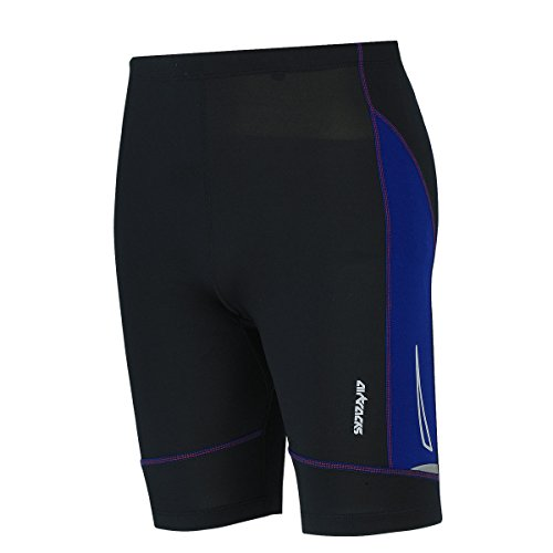 Airtracks FUNKTIONS Laufhose PRO AIR KURZ/Running Hose/Tight/Shorts/Reflektoren - M - schwarz-blau