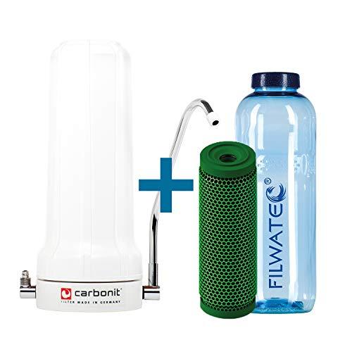 filwatec Carbonit SanUno Basic I GFP Premium-9 Membran I Wasserfilter Auftischfilter I Trinkwasseraufbereitung Aktivkohlefilter I Wasserfilter Trinkflasche