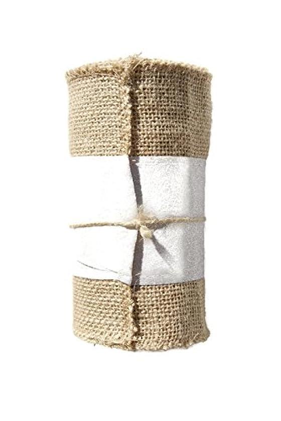Pearl Glitter Burlap Ribbon Roll - 5.5