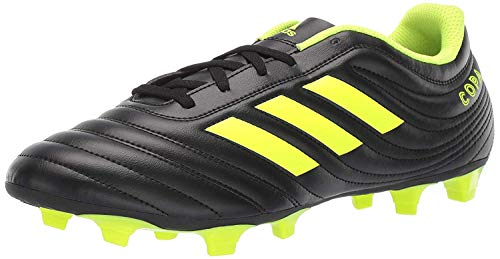 adidas Men's Copa 19.4 Firm Ground, Black/Silver Metallic/Solar Yellow, 8 M US