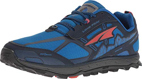 ALTRA Men's AFM1855F Lone Peak 4.0 Trail Running Shoe, Blue - 7 D(M) US