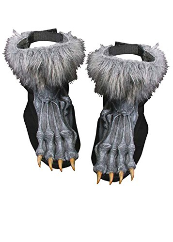 Couvre-chaussures loup-garou gris Halloween