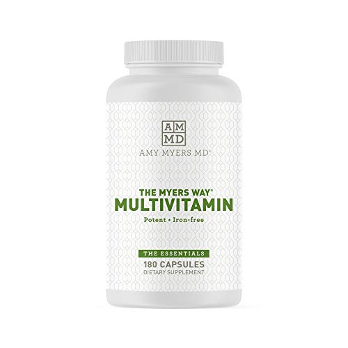 The Myers Way Multivitamin for Women and Men for Thyroid Support, Stress Relief, Immune Support - Activated B Vitamins, Zinc, Selenium, Iodine - Rich in Nutrients and Minerals, Gluten Free (180 Caps)