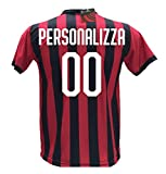 Maglia Calcio Milan Personalizzabile Replica Autorizzata 2018-2019 Bambino (Taglie 2 4 6 8 10 12) Adulto (S M L XL) (6 Anni) (2 Anni)