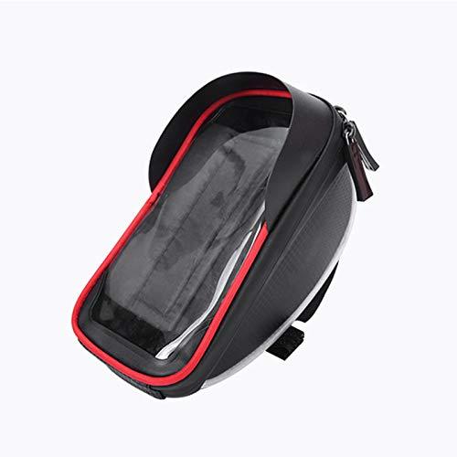 TKHHC Bolsa Manillar Bicicleta Impermeable Bolsa de Bicicleta Bicicleta Bolso Impermeable con Pantalla Táctil para Smartphone hasta 6',