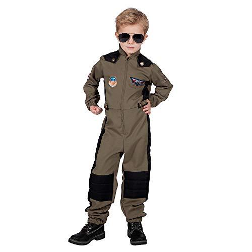 WOOOOZY Kinder-Kostüm Jet Piloten-Overall - Cooler Style, Gr. 128