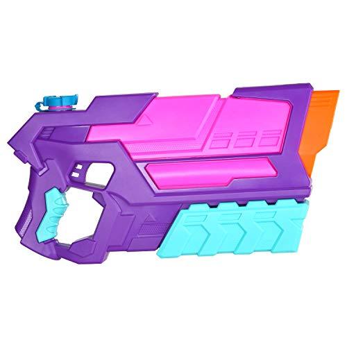 JOYIN Giocattolo Pistola ad acqua rosa e viola ad alta capacità Giocattolo spruzzatore d'acqua Piscina Spiaggia Sabbia Giochi acquatici per bambini Fighting Toy