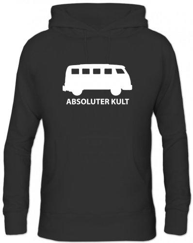 Shirtstreet24, ABSOLUTER Kult, Bus Herren Kapuzen Sweatshirt Hoodie - Pullover, Größe: XL,Schwarz