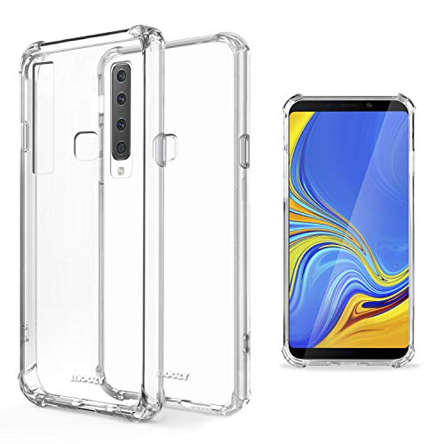 Moozy Funda Silicona Antigolpes para Samsung A9 2018, A9 Star Pro, Galaxy A9s - Transparente Crystal Clear TPU Case Cover Flexible