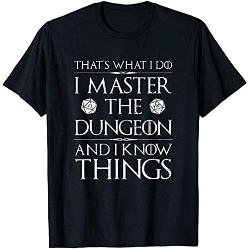 Stella Harmon I Master The Dungeon and I Know Things DND RPG D20 T-Shirt_6442