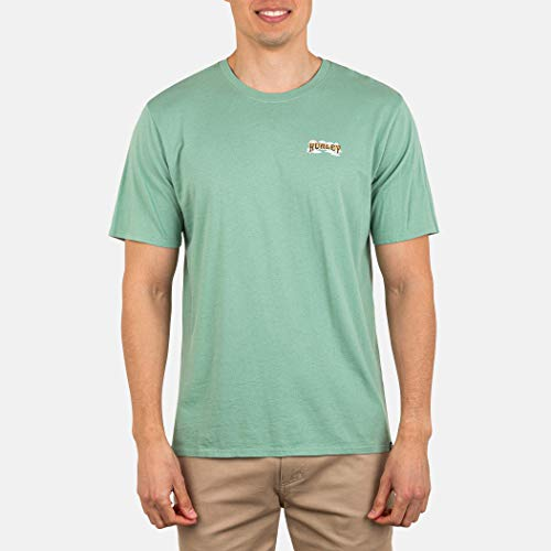 Hurley M Flower Tubing S/S Camiseta, Hombre, Spruce Fog, XL
