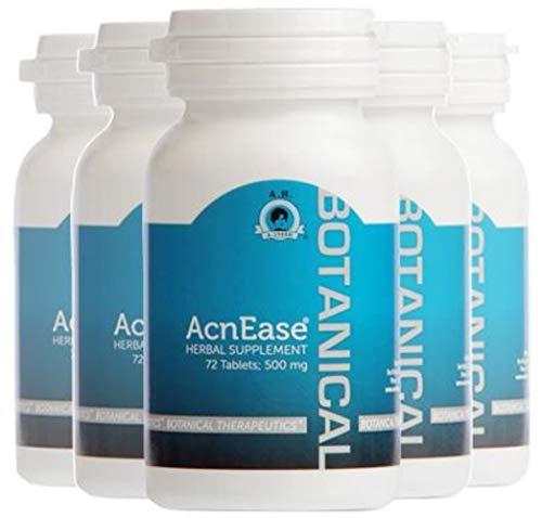 Acnease Lot de 5 flacons de traitement naturel contre l'acné modéré