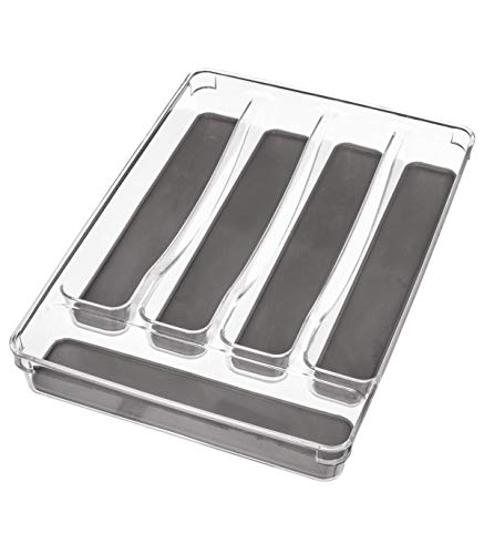VITA PERFETTA - Organizador de cubiertos con 5 compartimentos – Organizador para cajón de cocina – Resistente y duradero ecológico (32 x 23 cm)