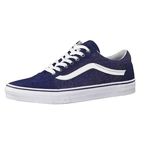 Vans Old Skool, Zapatillas de Entrenamiento Hombre, Azul (Suede/Suiting), 43 EU