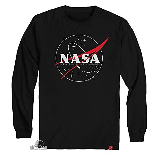 Camiseta Nasa Geek Astronomia Aeronautics Manga Longa P