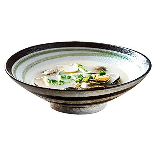 Home kitchen products - Cuenco de utensilios de cocina, pasta de cerámica, cuencos de cerámica, cuencos de ensalada, tazones de sopa grandes, tazones de senderos para pasta y fruta apilable redondo gr