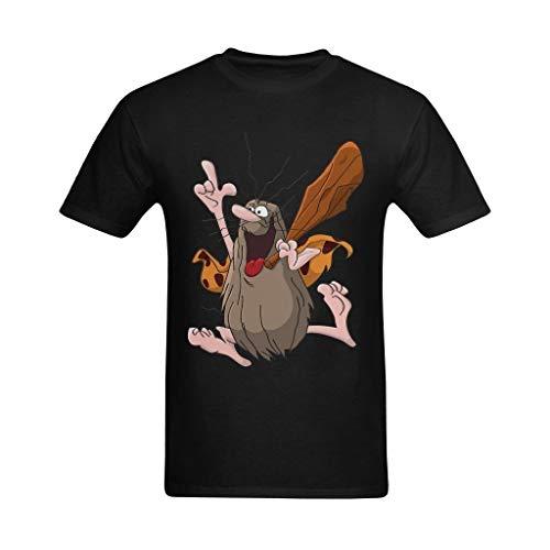 Men's Black Captain Caveman T-shirt, S to 4XL