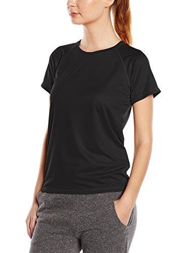 Stedman Apparel Damen Sport T-Shirt Active 140 Raglan/st8500, Schwarz (Black Opal), Medium